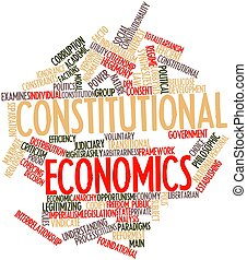 Constitutional economics - Abstract word cloud for...