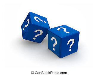 Blue Question Dice