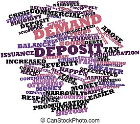 Demand deposit - Abstract word cloud for Demand deposit with...