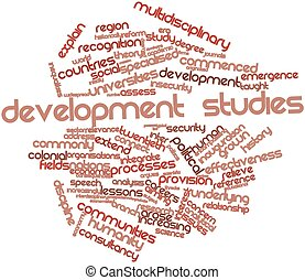 Word cloud for Development studies - Abstract word cloud for...
