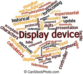 Display device - Abstract word cloud for Display device with...
