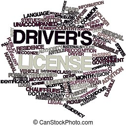 Driver's license - Abstract word cloud for Driver's license...