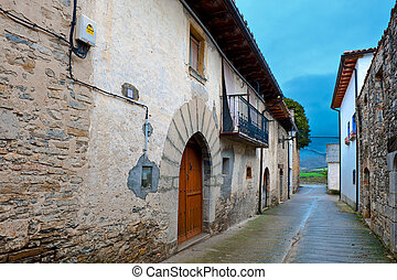 Rainy Day - Medieval Spanish Town in Rainy Day