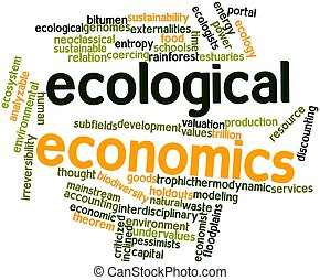 Ecological economics - Abstract word cloud for Ecological...