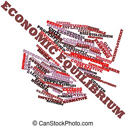 Word cloud for Economic equilibrium - Abstract word cloud...