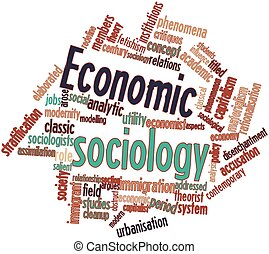 Economic sociology - Abstract word cloud for Economic...