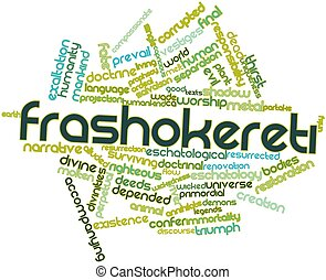 Word cloud for Frashokereti - Abstract word cloud for...