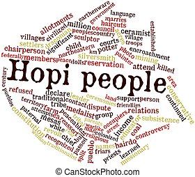 Hopi people - Abstract word cloud for Hopi people with...