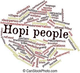 Hopi, palavra, nuvem, pessoas