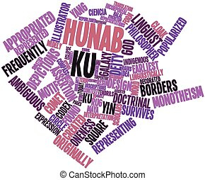 Hunab Ku - Abstract word cloud for Hunab Ku with related...