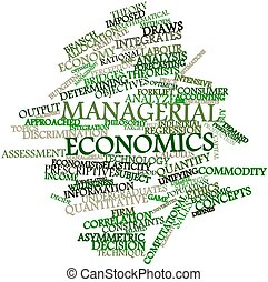 Managerial economics - Abstract word cloud for Managerial...