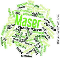 Maser - Abstract word cloud for Maser with related tags and...