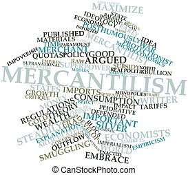 Mercantilism - Abstract word cloud for Mercantilism with...