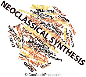 Neoclassical synthesis - Abstract word cloud for...