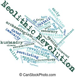 Word cloud for Neolithic Revolution - Abstract word cloud...