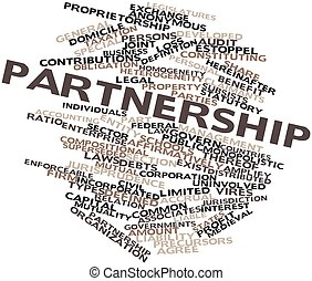 Word cloud for Partnership - Abstract word cloud for...