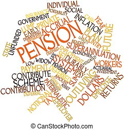 Pension - Abstract word cloud for Pension with related tags...