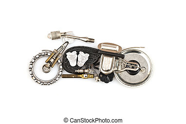Toy motorcycle on a white backgroun - Motorcycle on a white...
