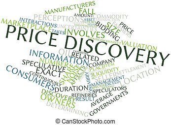 Price discovery - Abstract word cloud for Price discovery...