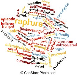 Word cloud for Rapture - Abstract word cloud for Rapture...