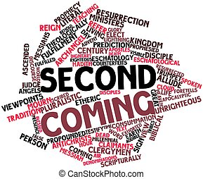 Second Coming - Abstract word cloud for Second Coming with...