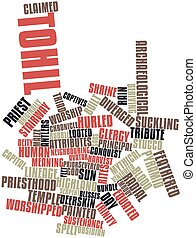 Word cloud for Tohil - Abstract word cloud for Tohil with...