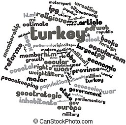 Word cloud for Turkey - Abstract word cloud for Turkey with...