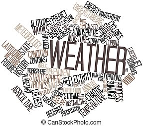 Weather - Abstract word cloud for Weather with related tags...