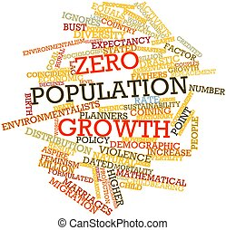 Zero population growth - Abstract word cloud for Zero...