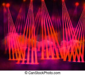 Red Laser Stage Background