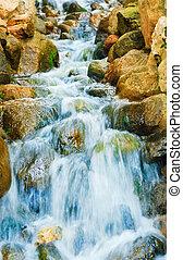 Cascade - Small Water Cascade In The City Garden