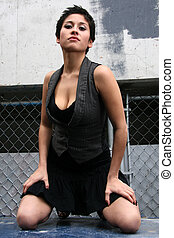 Fashion Model in Ghetto Setting