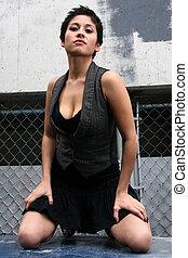 Fashion Model in Ghetto Setting