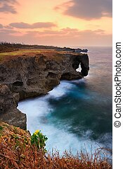 Manzamo Point in Okinawa - Manzamo, a famed coral reef cliff...