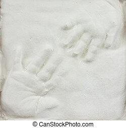 Children's hand prints - Toddler and baby hand prints in...