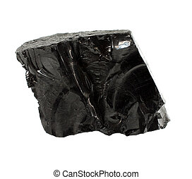 Coal - Lump of high quality anthracite isolated on white