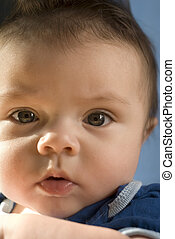 6 month portrait - Extremely shallow DOF, focus on left eye...