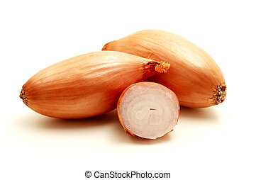 Shallot on a white background