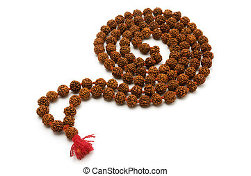 Japa Mala (set of beads commonly used by Hindus and...
