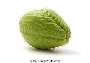 Chayote on a white background