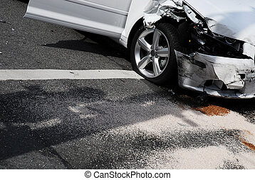 Auto Collision Aftermath - The aftermath of a car accident...
