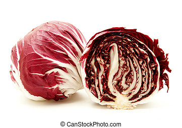 Radicchio rosso di verona on a white background