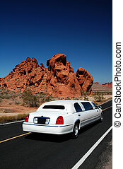 White Limousine - A white limousine enters the Valley of...