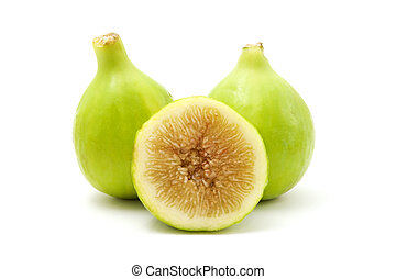 Italian honey fig on a white background