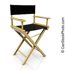 director chair - 3d illustration of cinema director chair,...