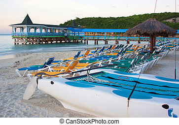 Dickenson Bay, Antigua - Beautiful Dickenson Bay in Antigua,...