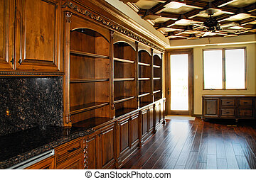 home office den - home office or den done with wood and...