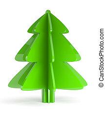 Illustration of christmas tree on white background