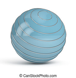 Blue Sphere on white background