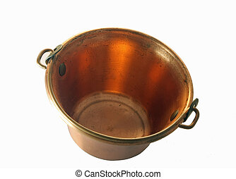 ancient copper saucepan toy with handle